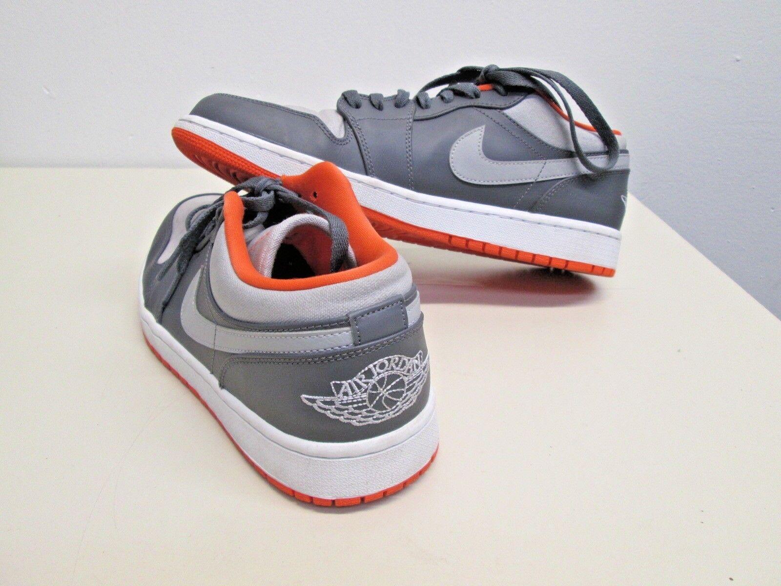 Nike Air Jordan 1 Low Top 553558-019 Orange Gris  Chaussures