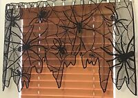 Heritage Lace Fabric black Spider Valance 37 W By 21 L (775) Lk
