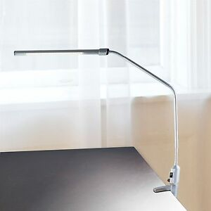 Image Is Loading Silver Clamp Stick Light For Desk Work Table