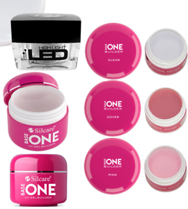 Silcare-GEL-UV-BASE-ONE-HIGH-LED-Builder-Clear-Pink-Cover-30g-50g-DE