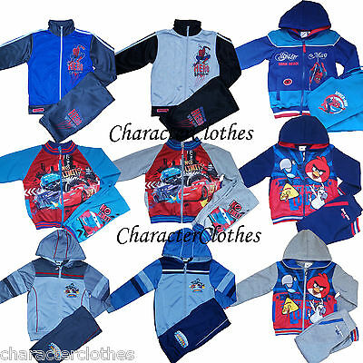 Boys SKYLANDERS SPIDERMAN ANGRY BIRDS Tracksuit Jogging Set Suit Outfit Age 2-12