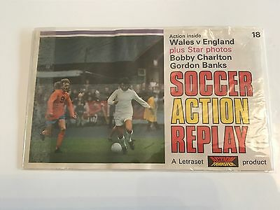 Letraset Action Transfer Replay - England vs Wales - unused - Banks & Charlton