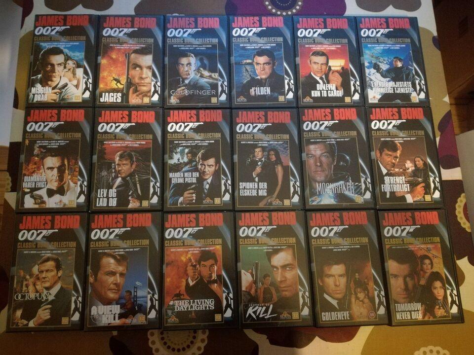 Action, James Bond 007 - VHS, instruktør Terence Young m.fl