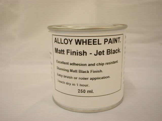 1 x 250ml Matt Black Alloy Wheel Brush On Paint