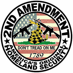 2nd Amendment Sticker Decal Dont Tread On Me 4x4 Truck