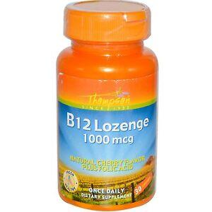 Image is loading Vitamin-B12-1000-mg-30-Lozenges-Folic-Acid-