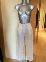 Eden Rock Trousers Size Xs Cream Linen 30 Inside Leg Rrp £98 Now £44