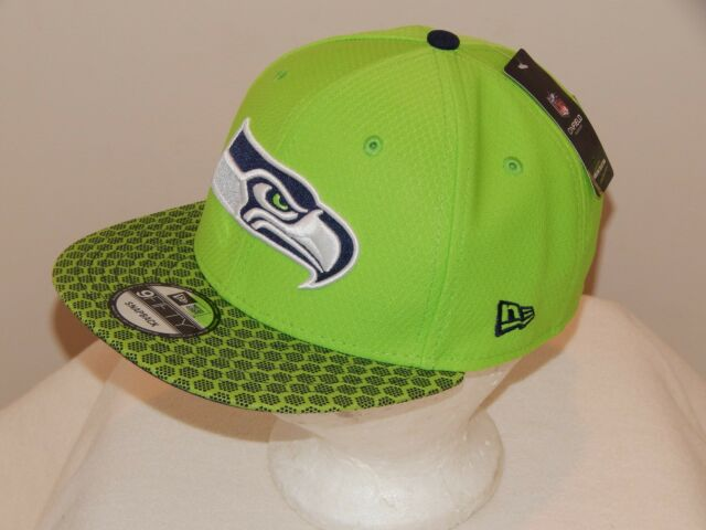 80993a254 ... where to buy new era seattle seahawks nfl green on field sideline  9fifty snapback hat new