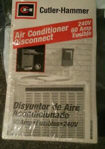 New-CUTLER-HAMMER-DPU222RP-60-Amp-Air-Conditioner-Disconnect-Switch-FUSIBLE-240V