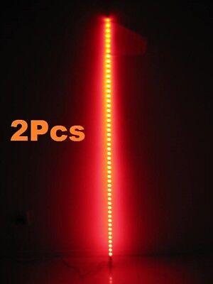 2Pcs 5 Feet Quick Release ATV UTV LED Light Whip with Flag Amber//Orange color