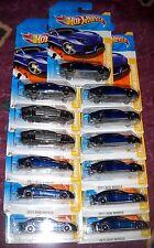2011 Hot Wheels NEW MODELS #48 ∞ LAMBORGHINI ESTOQUE ∞ LOT OF 13 BLUE & GRAY