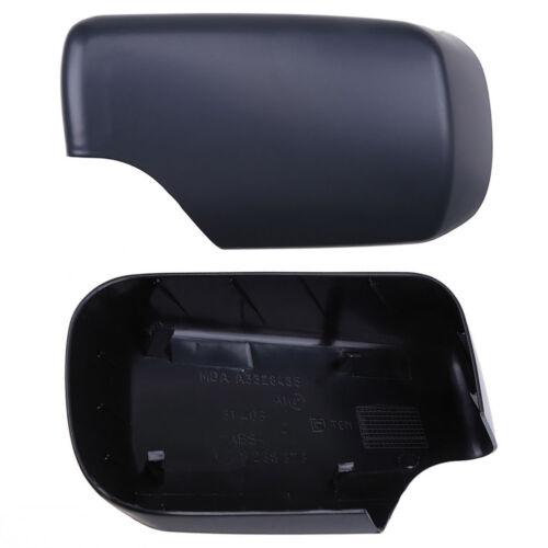 Exterior Mirror Cover Cap Wing Mirror Cover Black Left for BMW 3er E46 98-05