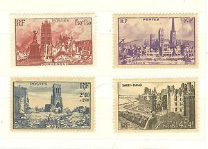 YVERT-N-744-a-747-TIMBRES-FRANCE-NEUFS-sans-CHARNIERES