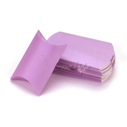 20//50pc Wedding Favor Box Mignon Papier Kraft Oreiller Parti faveur cadeau Gâteau Candy J
