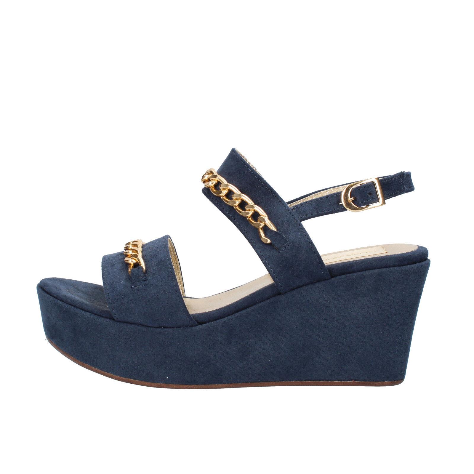 Scarpe donna OLGA RUBINI camoscio camoscio 41 EU sandali blu camoscio RUBINI RUBINI   446890