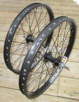 Wheel Set 20 Bmx Park 3/8 Front 3/8 Flip Flop Rear Double Walled Rims