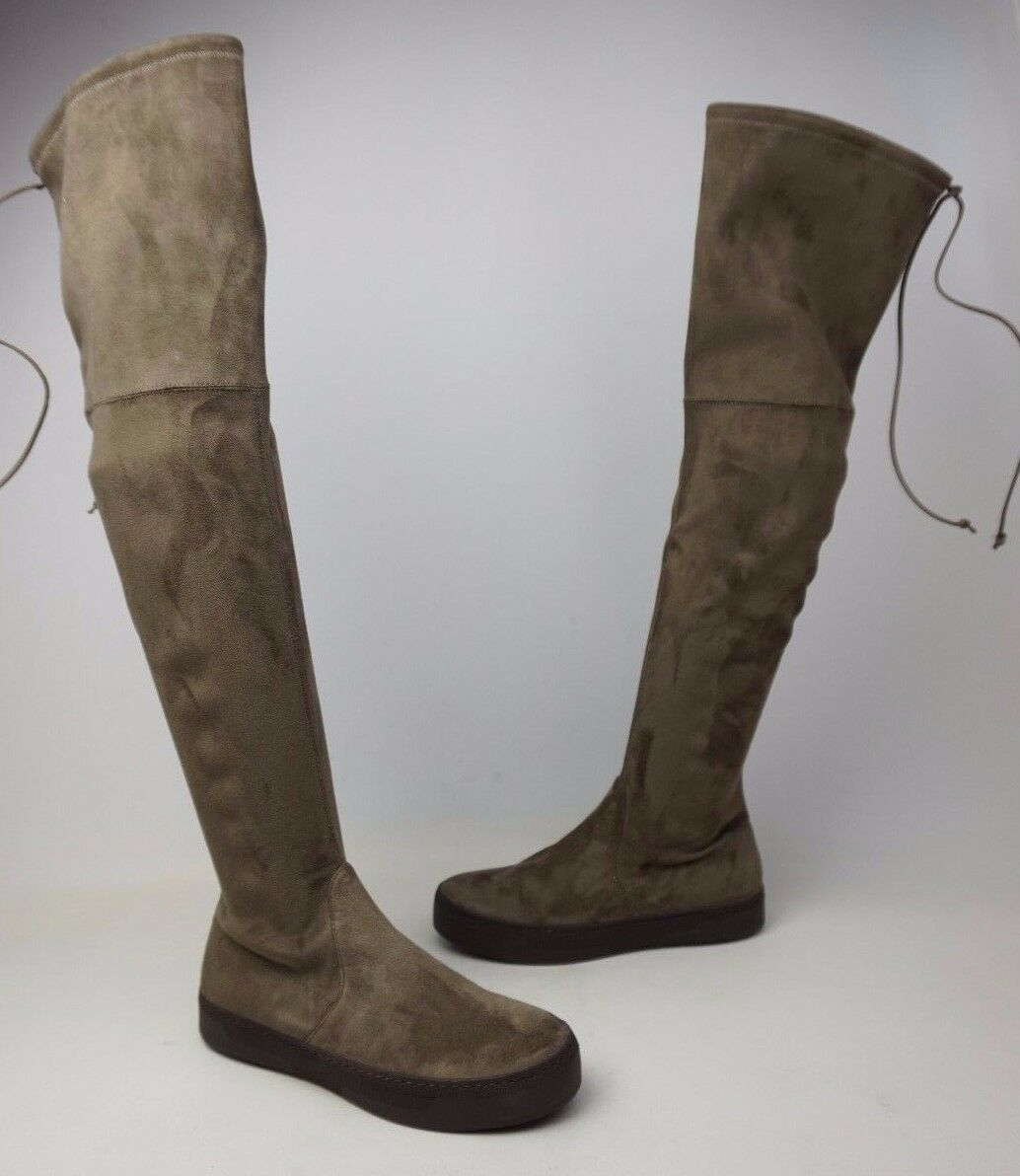 Stuart Weitzman Playtime Brown Swamp Suede Over The Knee Boots Size 5 M