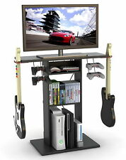 """New Video Game Storage Rack Console & 32"""" TV Stand Xbox PS3 Accessory Organizer"""