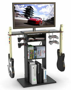 """New Video Game Storage Rack Console & 32"""" TV Stand Xbox ..."""