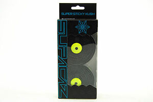 Supacaz-Super-Sticky-Kush-Road-Bike-Handlebar-Tape-Galaxy-Neon-Yellow-Black