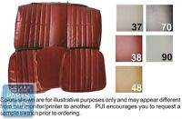 1979 Camaro Standard Carmine Front Buckets Seat Covers & Coupe Rear - Pui