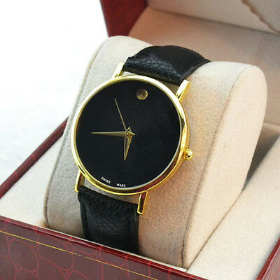 Vintage Golden Women Ladies Luxury Simple Fine Dial Quartz Wrist Watch