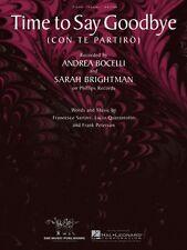 Time to Say Goodbye Sheet Music Con Te Partiro Piano Vocal Andrea Boce 000352768