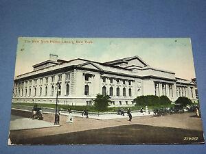 VINTAGE 1912  NEW YORK PUBLIC LIBRARY    NEW YORK   POSTCARD