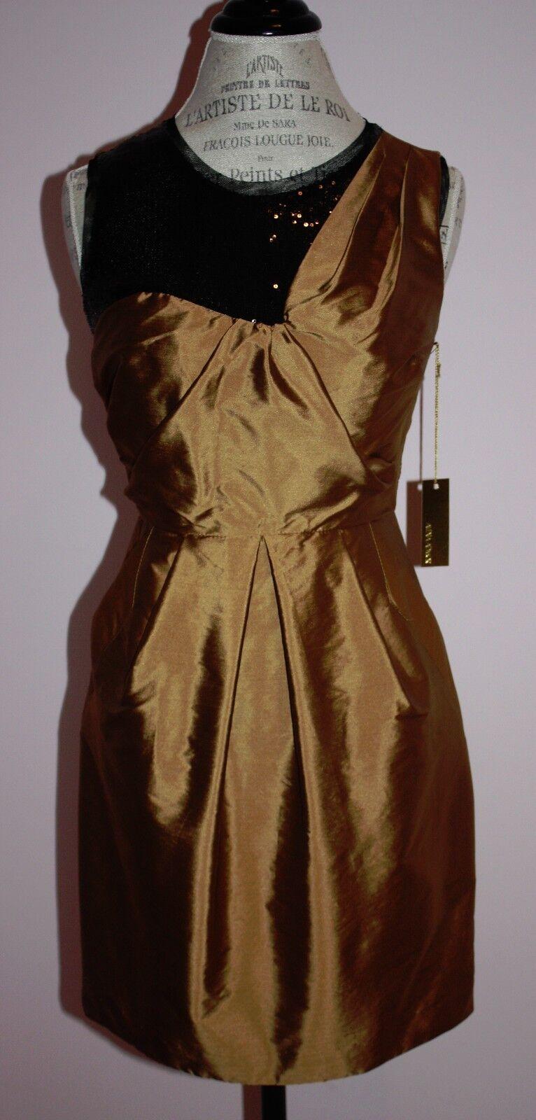 Nuevo Con Etiquetas Mujeres Alexia  Admor bronce  285 Vestido De Lentejuelas Negro Tamaño Pequeño 4 6  marca famosa