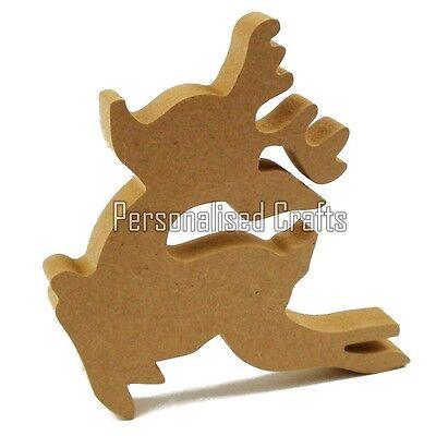 Free Standing Wooden MDF Reindeer Shape Christmas Crafts