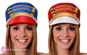 MAJORETTE-HAT-MARCHING-BAND-TOY-SOLDIER-CHRISTMAS-FANCY-DRESS-COSTUME-ACCESSORY