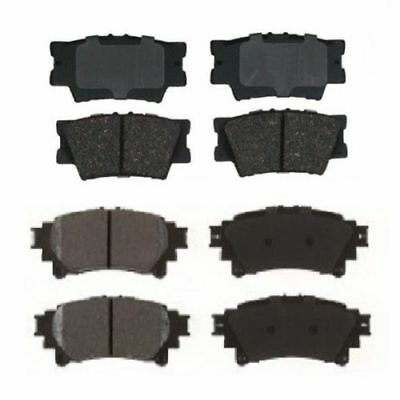 2008-2014 TOYOTA HIGHLANDER FRONT MD1324 AND REAR MD1325 BRAKE PADS SET