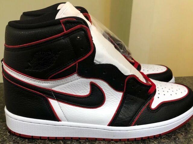 Nike Air Jordan 1 Retro High OG BloodLine Black Gym Red 555088-062 Men's Size 14