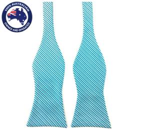 Men/'s Bowtie Blue Striped Formal Bow tie Wedding Groom Tuxedo Self Tied Bow Tie