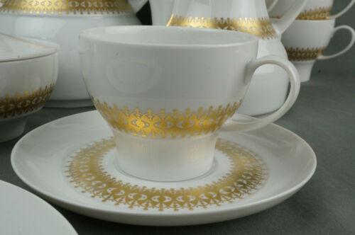 THOMAS MEDAILLON Golddekor schönes altes Kaffeeservice 6P 22tlg 70er Jahre