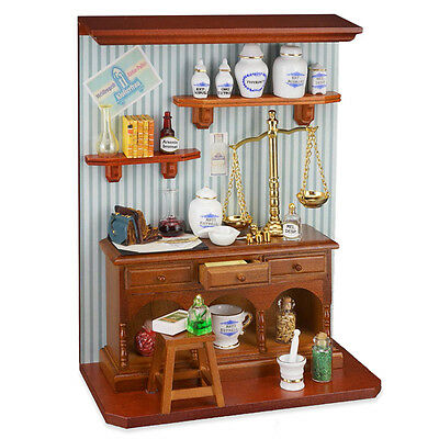 Dolls & Bears Reutter Porzellan Farmacia/pharmacy Diorama Murale Puppenstube 1:12 1.801/9 Fragrant Aroma Other Dollhouse Miniatures