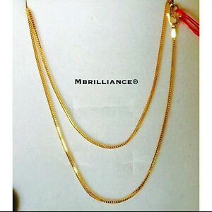 Authentic-916-gold-fine-gold-22k-gold-18-034-Peoples-Chain-Necklace-2-73g