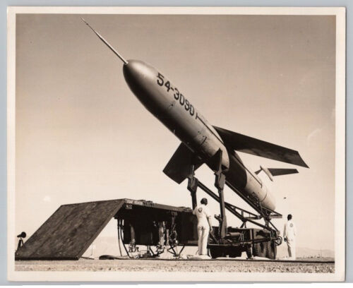 1950's AIR FORCE TM76 MGM13 MACE MISSILE PROTOTYPE TEST Vintage MARTIN Photo