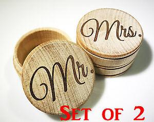 Mr Mrs Wedding Ring Box Ring Bearer Box Rustic Wedding Ring Box
