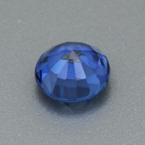 11mm Aspecto Redondo Azul Intenso Laboratorio Piedra Preciosa Zafiro