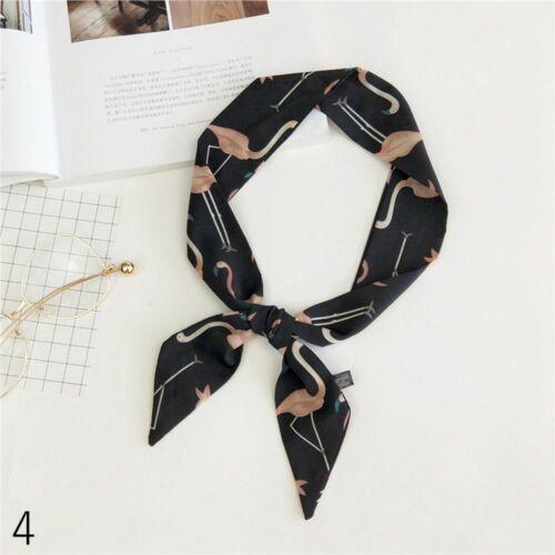 Vintage Neckwear Chic Ribbon Little Silk Scarf Neckerchief Hair Tie Band