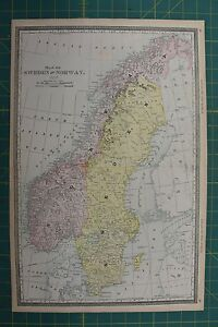 Sweden norway vintage original 1892 rand mcnally world atlas map lot image is loading sweden norway vintage original 1892 rand mcnally world gumiabroncs Images