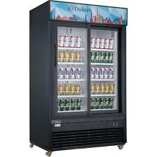 New Dukers Dsm 40sr Commercial Glass Sliding 2 Door Merchandiser Refrigerator
