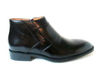 La-Milano-Premium-Leather-Boots-Black-Dressy-angular-design-side-zipper-H1596
