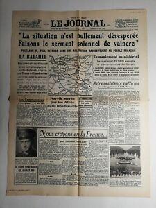 N356-La-Une-Du-Journal-Le-journal-19-mai-1940-notre-resistance-affirme-Duval