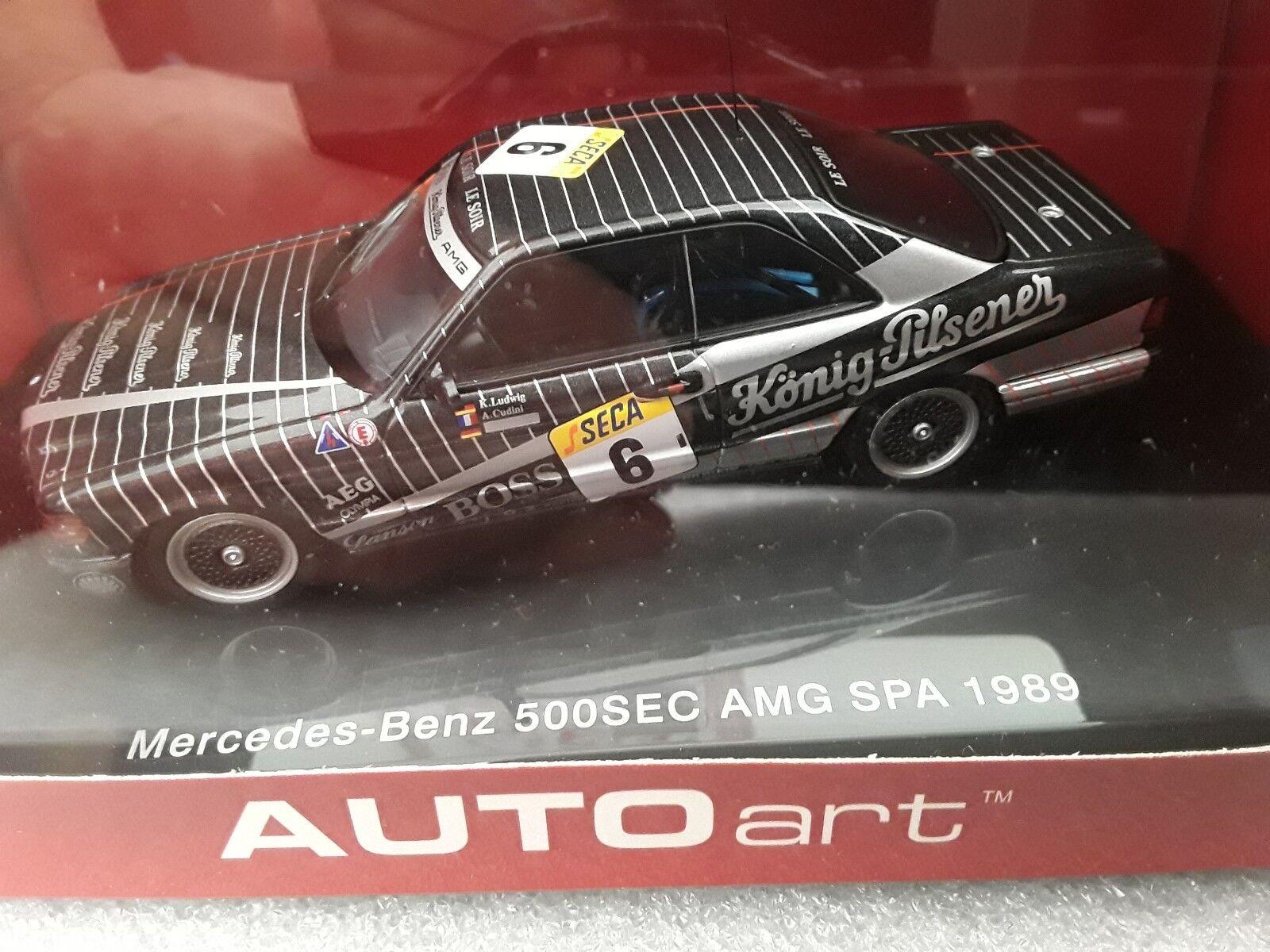 Mercedes-Benz 500sec AMG  Spa 1989  6  K. Ludwig A. CUDINI  1 43 AUTOart