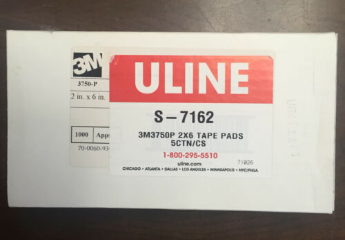 """2 x 6/"""" Uline S-7162-1000 Sheets  Free Shipping! 3M 3750P Tape Pads"""
