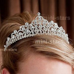 Braut Hochzeit Festzug Funkelnd Diadem Verwenden Swarovski Kristall