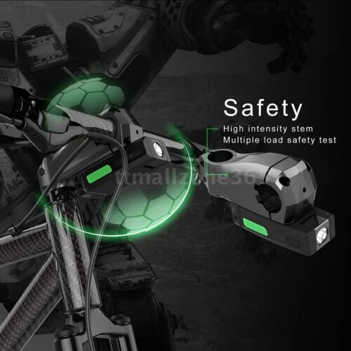 Bike Bicycle Smart Handlebar Stem 95mm with Headlight Mobile Power Bank TZ E1J9