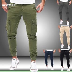Elástica De Moda Pantalones para hombres Casual hombres Estilo Deportivo..